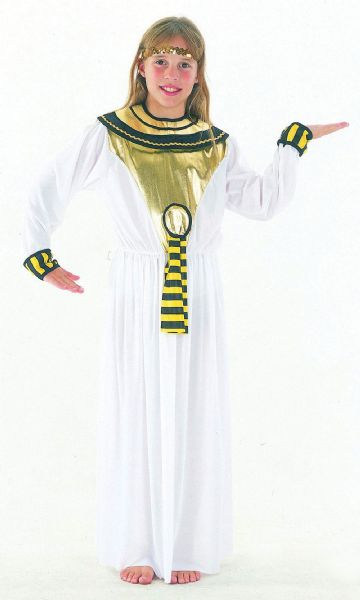 Girls Cleopatra Budget Costume Ancient Egyptian Queen Fancy Dress Outfit